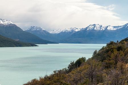 calafate: Lago Argentino lake in National Park Los Glaciares, Argentina