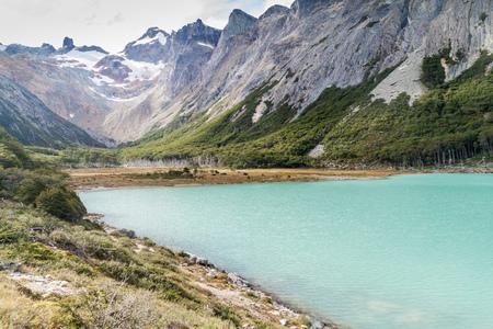 fuego: Laguna Esmeralda lake in Tierra del Fuego, Argentina Stock Photo