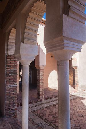 malaga: Alcazaba fortress in Malaga, Spain Editorial