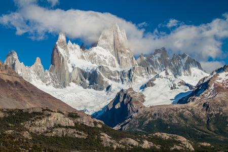 fitz: Fitz Roy mountain in National Park Los Glaciares, Patagonia, Argentina Stock Photo