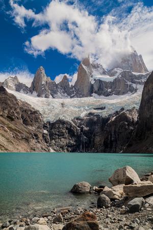 fitz: Laguna Sucia lake and Fitz Roy mountain in National Park Los Glaciares, Argentina