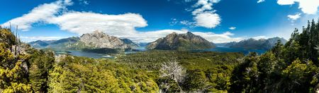 Perito Moreno Oeste and Nahuel Huapi lake, Argentina Stock Photo