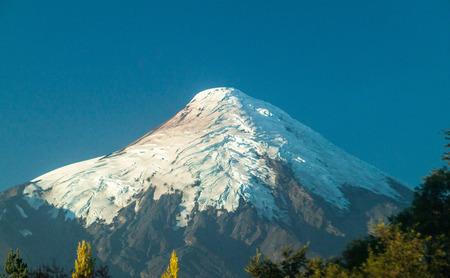excitation: View of Osorno volcano, Chile