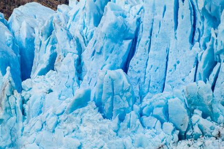 Detail of Perito Moreno glacier in National Park Los Glaciares, Argentina