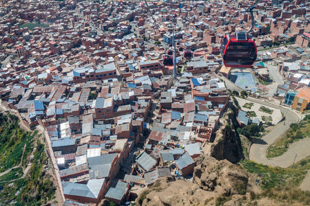 la paz: Aerial view of La Paz, Bolivia