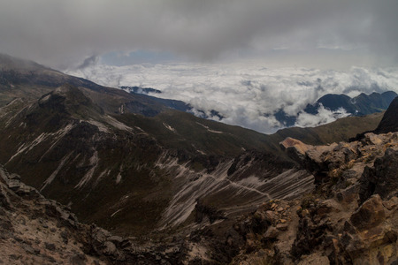 rim: Rim of Rucu Pichincha volcano, Ecuador