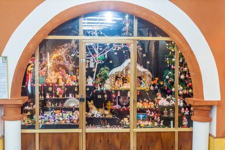 convento: POTOSI, BOLIVIA - APRIL 19, 2015: Nativity scene in the Convento de Santa Teresa monastery, Potosi, Bolivia