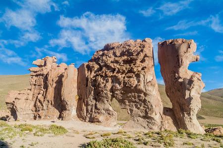 rock formation: Rock formation called Italia perdida in Bolivia Stock Photo