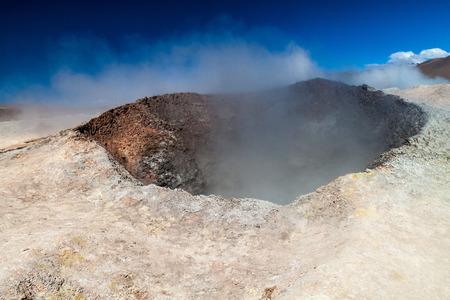 erupting: Sol de Manana geyser field, Bolivia