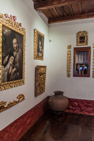 convento: POTOSI, BOLIVIA - APRIL 19, 2015: Interior of the Convento de Santa Teresa monastery, Potosi, Bolivia Editorial