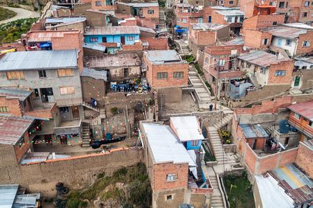 la paz: Roofs of La Paz, Bolivia