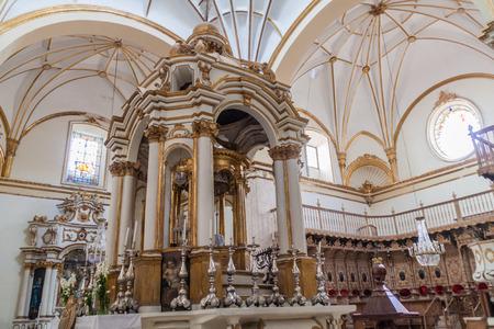 merced: SUCRE, BOLIVIA - APRIL 22, 2015: Interior of Templo Nuestra Senora de la Merced church in Sucre, capital of Bolivia. Stock Photo