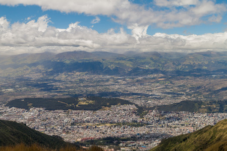 lookout: Quito, capital of Ecuador, as viewed from lookout Cruz Loma.