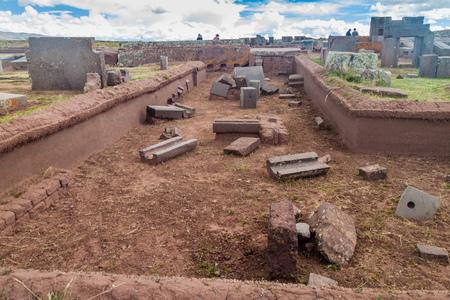 rectilinear: Pumapunku, Pre-Columbian archaeological site, Bolivia Editorial