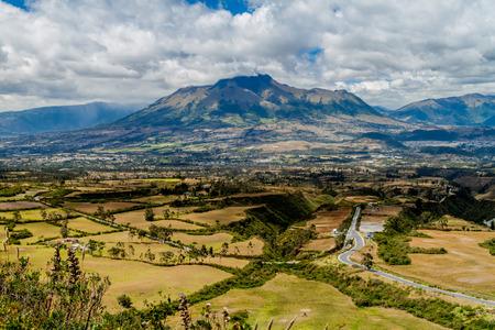 stratovolcano: Imbabura volcano in Ecuador Stock Photo