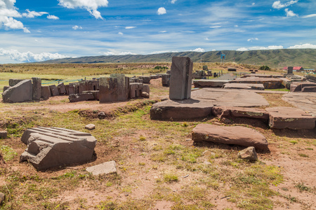 Pumapunku, Pre-Columbian archaeological site, Bolivia Editorial