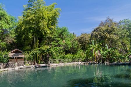 vegatation: Sulfur pool in Agua Blanca village in Machalilla National Park, Ecuador Stock Photo