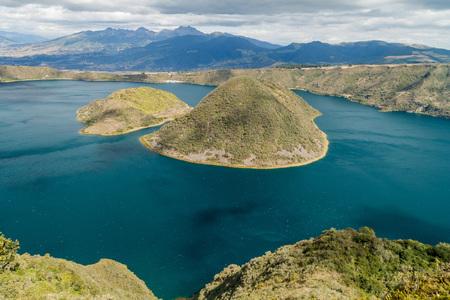 Laguna Cuicocha - volcanic crater lake in Ecuador