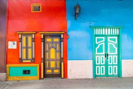 loja: Colorful colonial houses in Lourdes lane in Loja, Ecuador Editorial