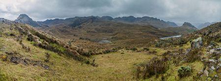 Panorama of National Park Cajas, Ecuador
