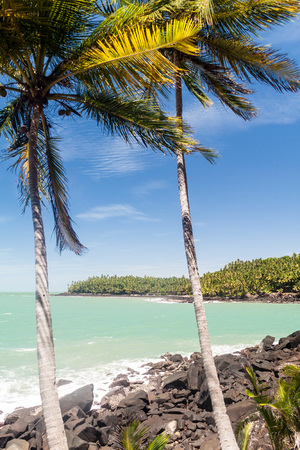political prisoner: View of Ile Saint Joseph island from Ile Royale in archipelago of Iles du Salut (Islands of Salvation) in French Guiana