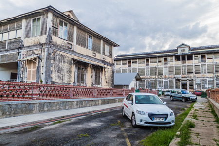 laurent: ST LAURENT DU MARONI, FRENCH GUIANA - AUGUST 4, 2015: View of an old hospital in St Laurent du Maroni, French Guiana.