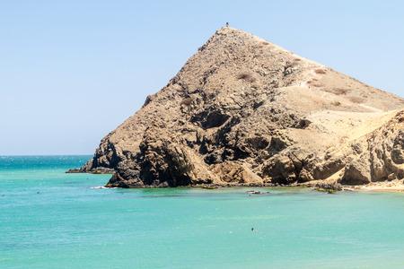 Coast of La Guajira peninsula in Colombia. Pilon de Azucar hill.