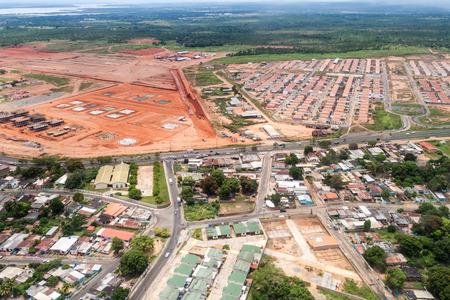 suburbs: Aerial view of suburbs of Ciudad Bolivar, Venezuela