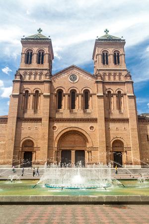 medellin: Metropolitan cathedral in Medellin, Colombia
