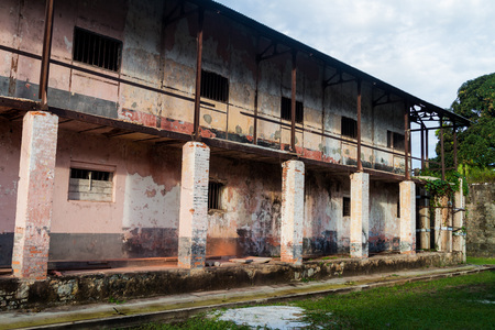 laurent: Building of a prison Camp de la Transportation in St Laurent du Maroni, French Guiana