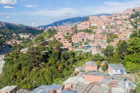 antioquia: Poor neighborhoods of Medellin, Colombia Stock Photo
