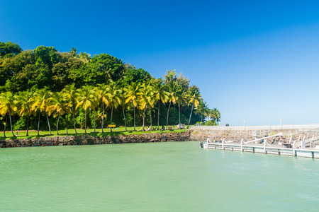 Pier at Ile Royale, one of the islands of Iles du Salut (Islands of Salvation) in French Guiana.