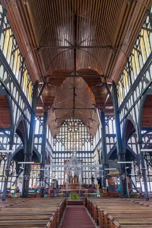 georgetown: GEORGETOWN, GUYANA - AUGUST 10, 2015: Interior of St Georges cathedral in Georgetown, capital of Guyana