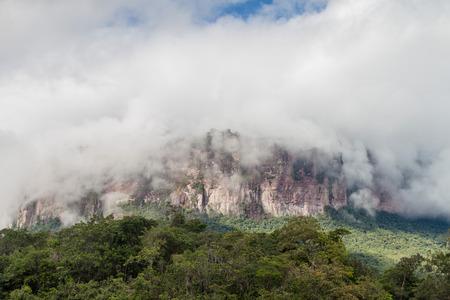 unexplored: Tepui (table mountain) Auyan in National Park Canaima, Venezuela Stock Photo