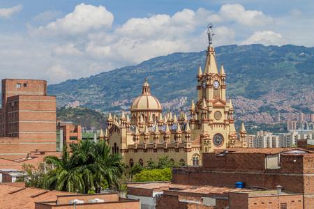 コロンビア、メデリンのイエス Nazareno 教会 写真素材