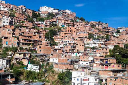 medellin: Poor neighborhood in Medellin, Colombia