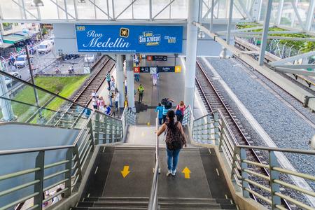 medellin: MEDELLIN, COLOMBIA - SEPTEMBER 1, 2015: San Javier station of Medellin metro. Stock Photo