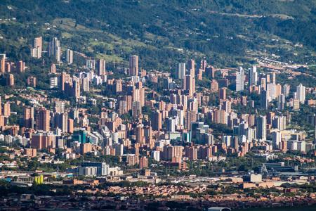 medellin: Aerial view of Medellin, Colombia Stock Photo
