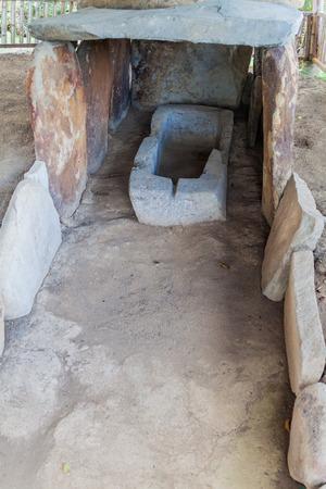 san agustin: Tomb located at Alto de los Idolos archeological site near San Agustin, Colombia