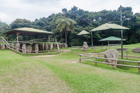 san agustin: Ancient statues in archeological park in San Agustin, Colombia Editorial