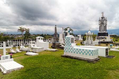 Cemetery in Filandia village, Colombia