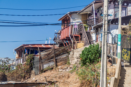 chilean: Colorfull houses on hills of Valparaiso, Chile