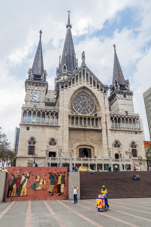 MANIZALES, COLOMBIA - SEPTEMBER 5, 2015: Neo gothic Cathedral in Manizales