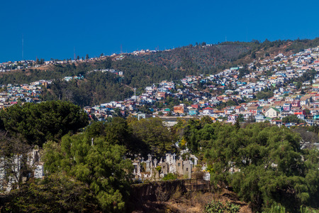 Colorfull houses on hills of Valparaiso, Chile