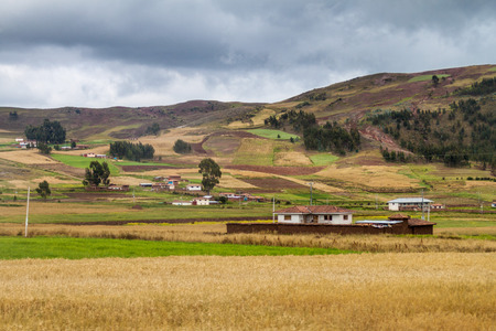 Rural landscape near Cuzco, Peru Stock Photo