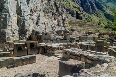 Incas ruins in Ollantaytambo, Sacred Valley of Incas, Peru