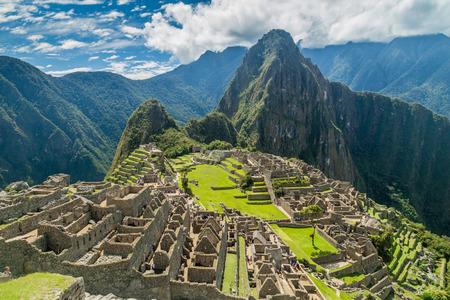 ペルーのマチュ ・ ピチュ遺跡 写真素材