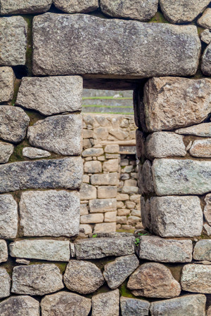 doorways: Window at House of Three Doorways at Machu Picchu ruins, Peru
