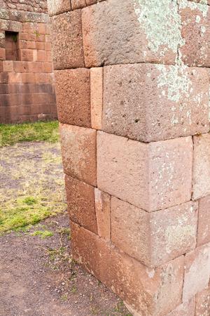 pisaq: Detail of ancient Incas ruins in Pisac village, Sacred Valley of Incas, Peru
