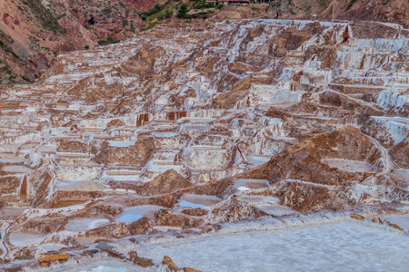 sacred valley of the incas: Salinas (Salt extraction pans) in Sacred Valley of Incas, Peru